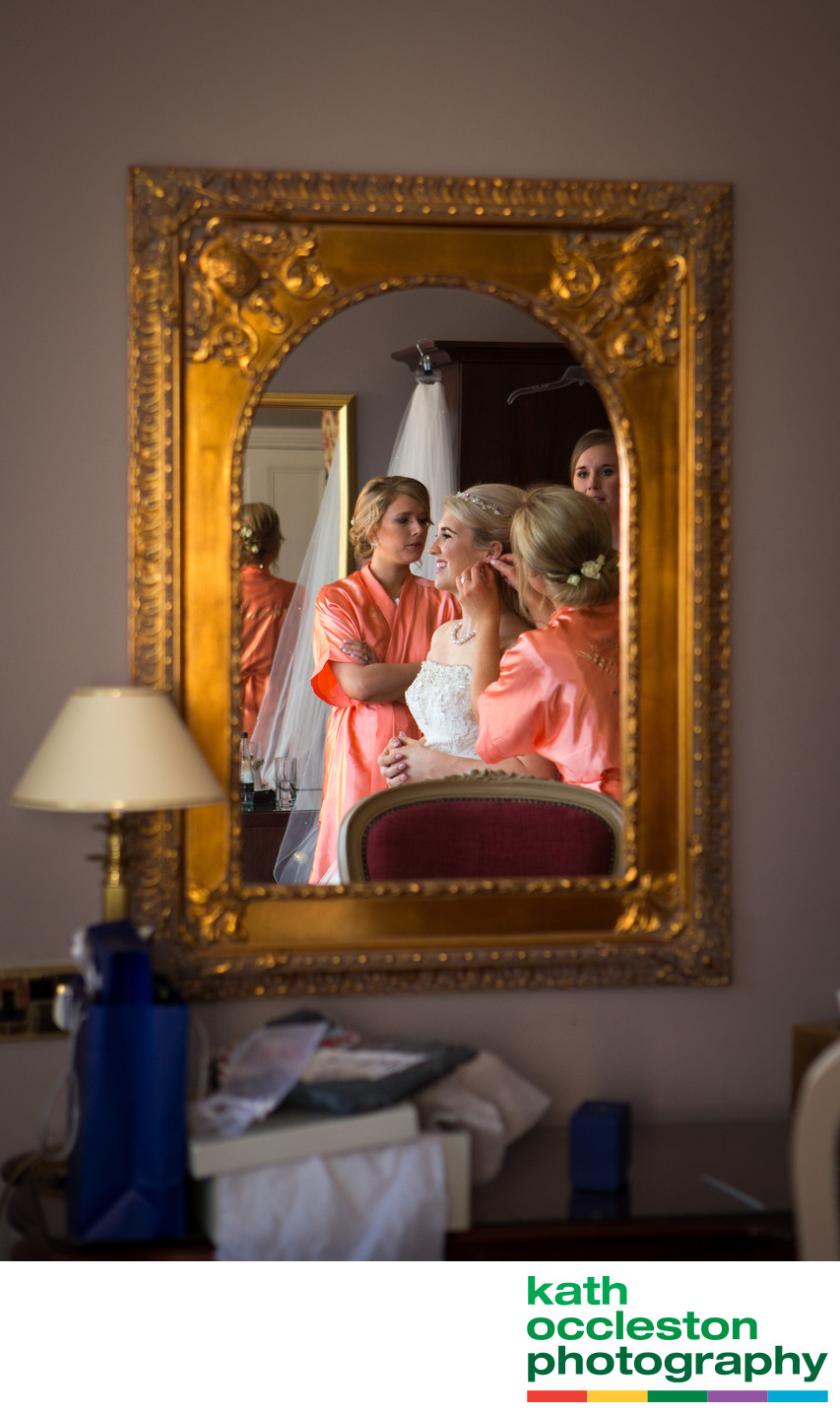 Bride getting ready at Farington Lodge