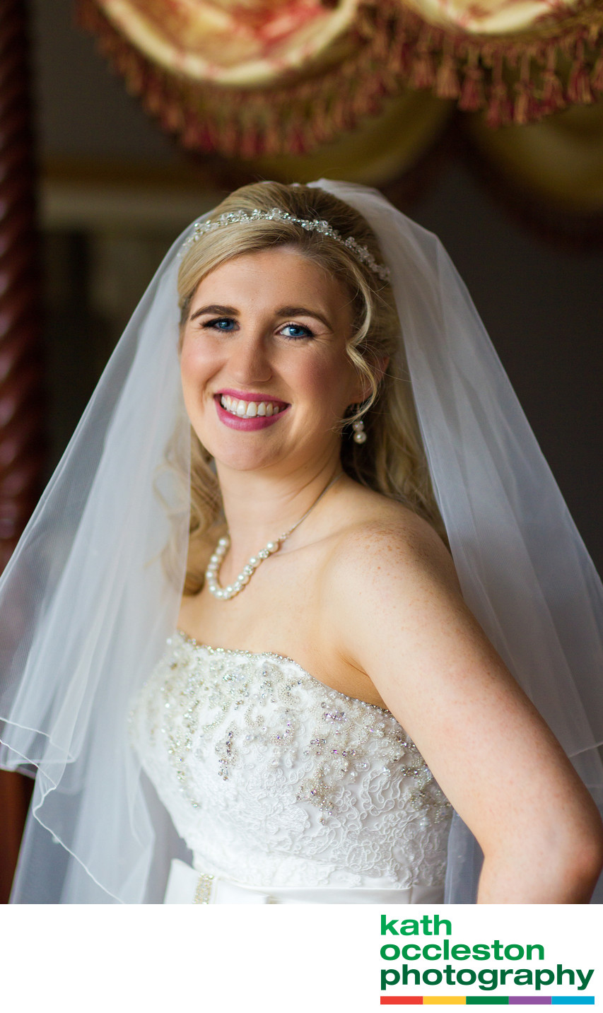 Bridal portrait at Farington Lodge