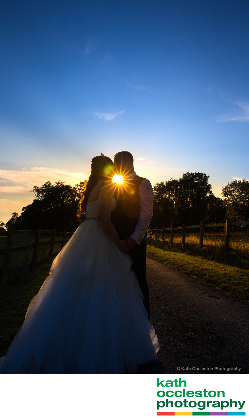Sunset wedding photography at The Villa, Wrea Green