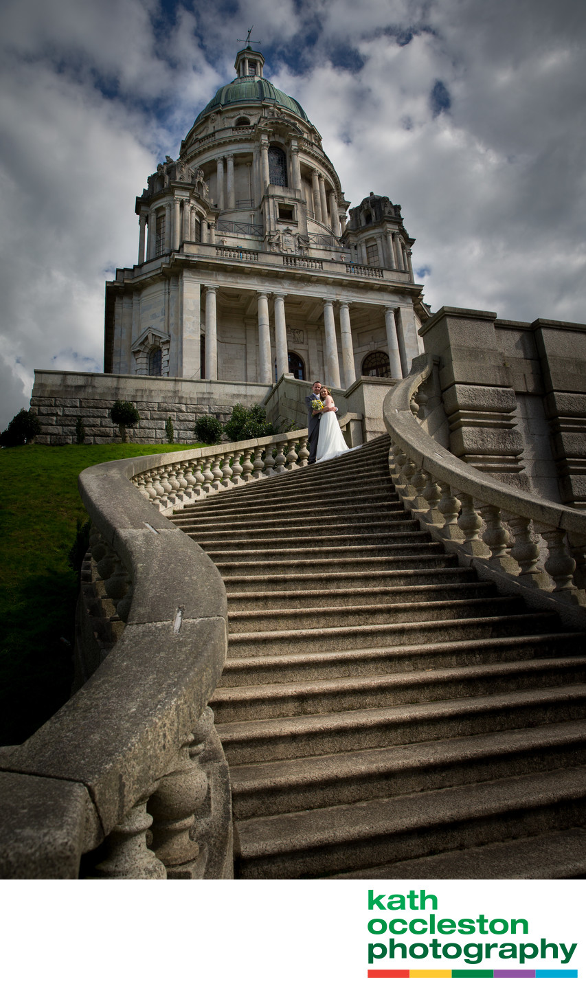 Ashton Memorial, Williamson Park Dramatic Wedding Photo