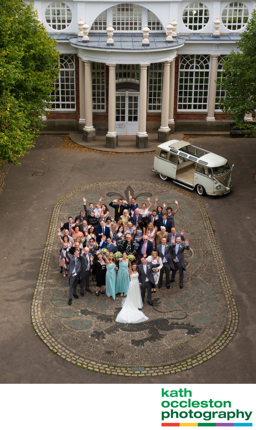 Ashton Memorial Wedding Photography with Camper van
