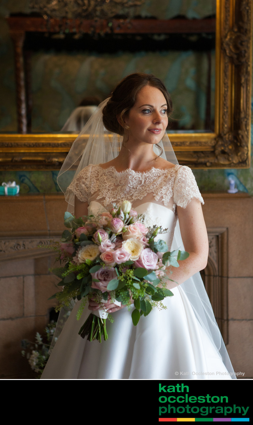 Bridal portrait at Mitton Hall