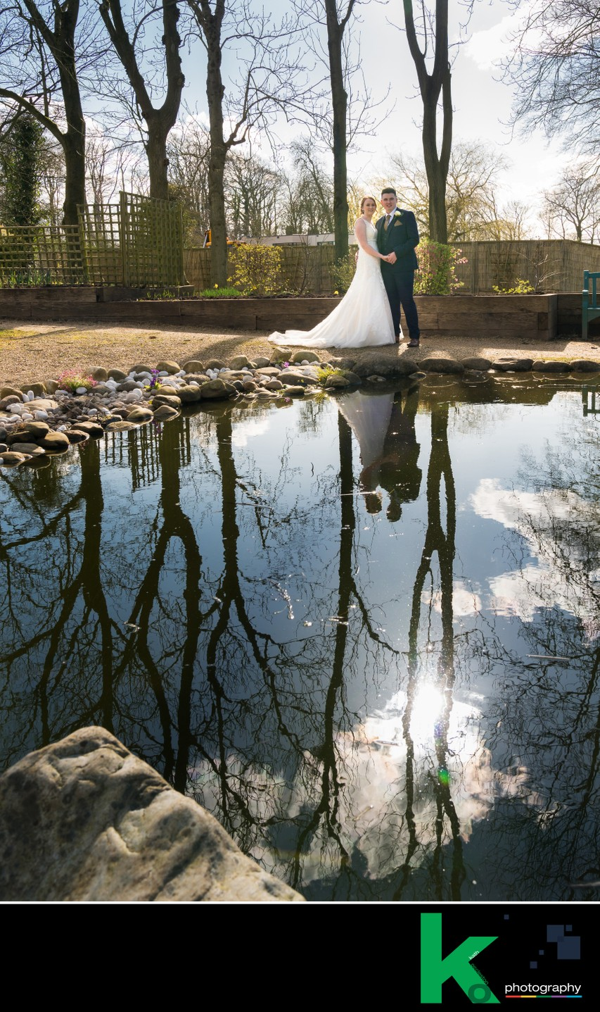 Ribby Hall gardens wedding photos