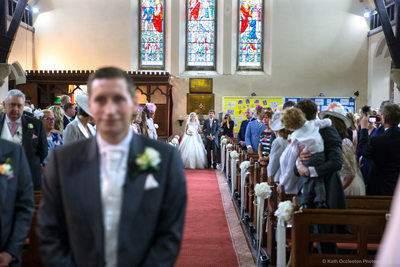 Walking down the aisle in Salesbury Church