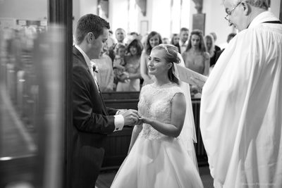 Exchanging rings in church