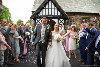 Documentary wedding photography, St Peter's Church Salesbury