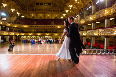 Wedding photography in Blackpool Tower Ballroom
