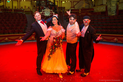 Wedding at Blackpool Tower Circus
