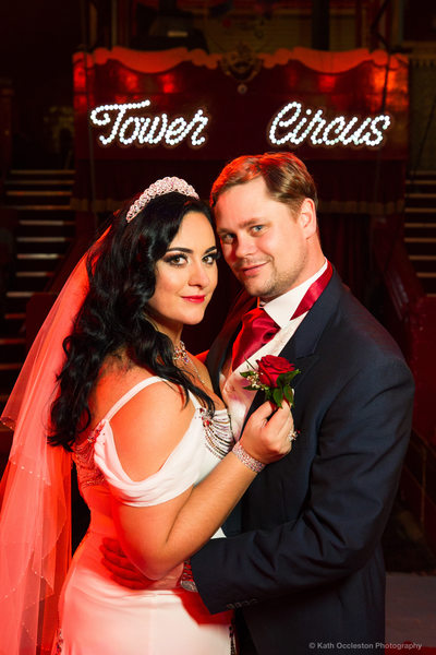 Bride & Groom in the Blackpool Tower Circus