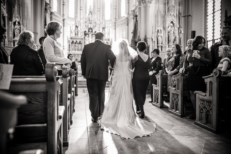 Oshkosh Cathedral Church Wedding Photography