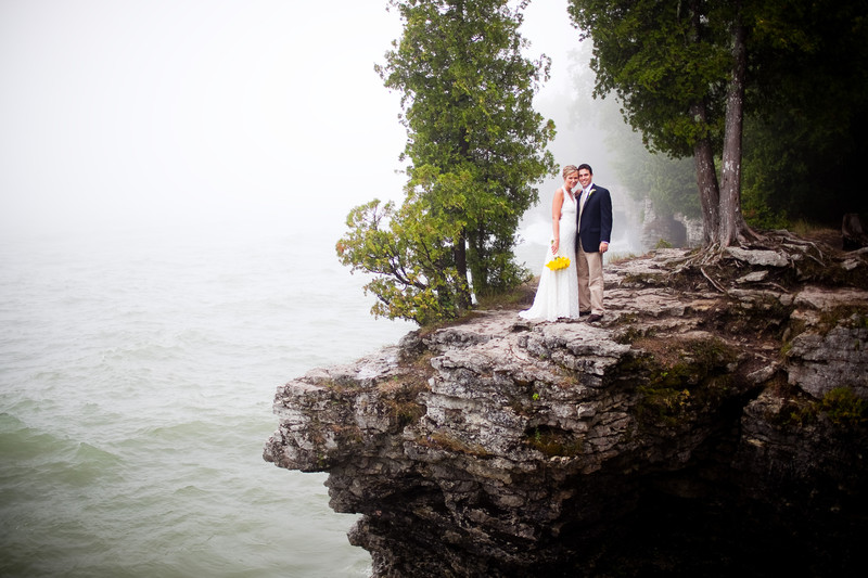 Door County Cave Point Wedding Photography