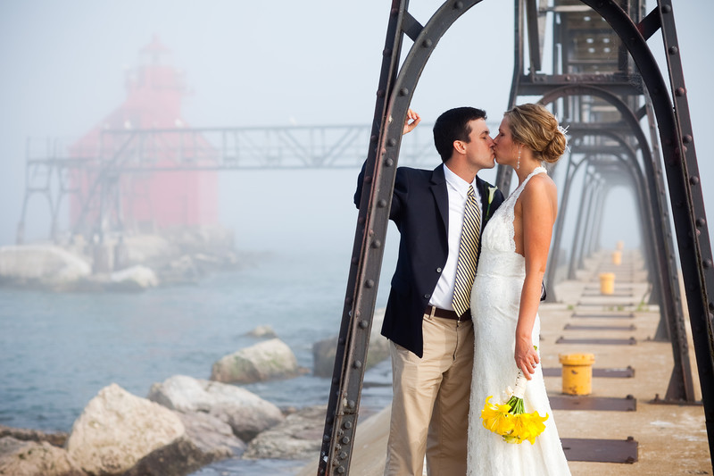 Wedding Photography Door County Lighthouse