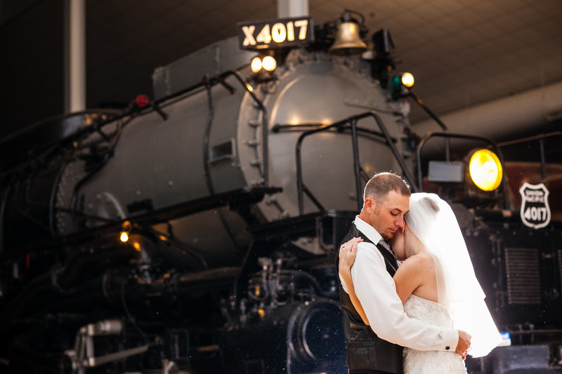 Railroad Museum Wedding Photography Green Bay Wisconsin