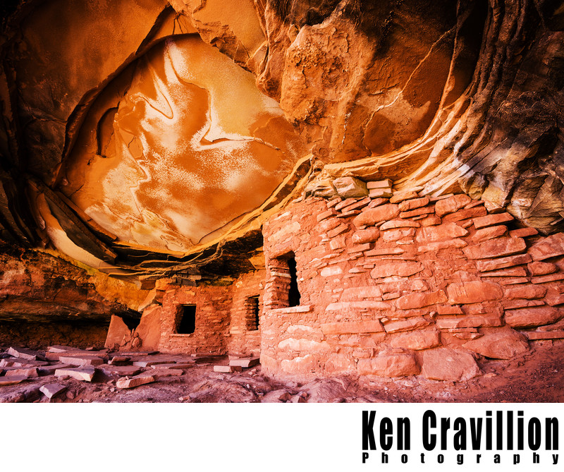 Broken Roof Ruin Utah Canyon Photograph