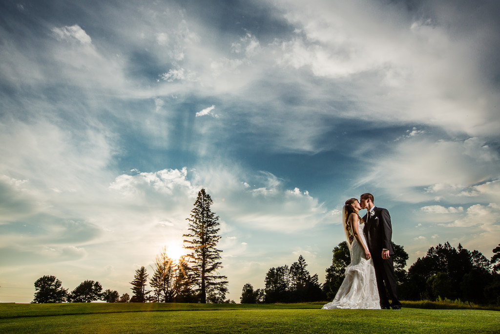 Antigo Wisconsin Sunset Wedding Photography