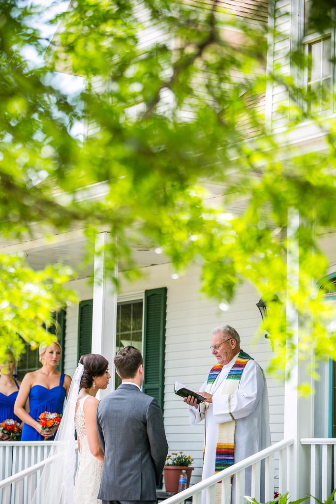 Manitowoc Front Yard Wedding Photograph