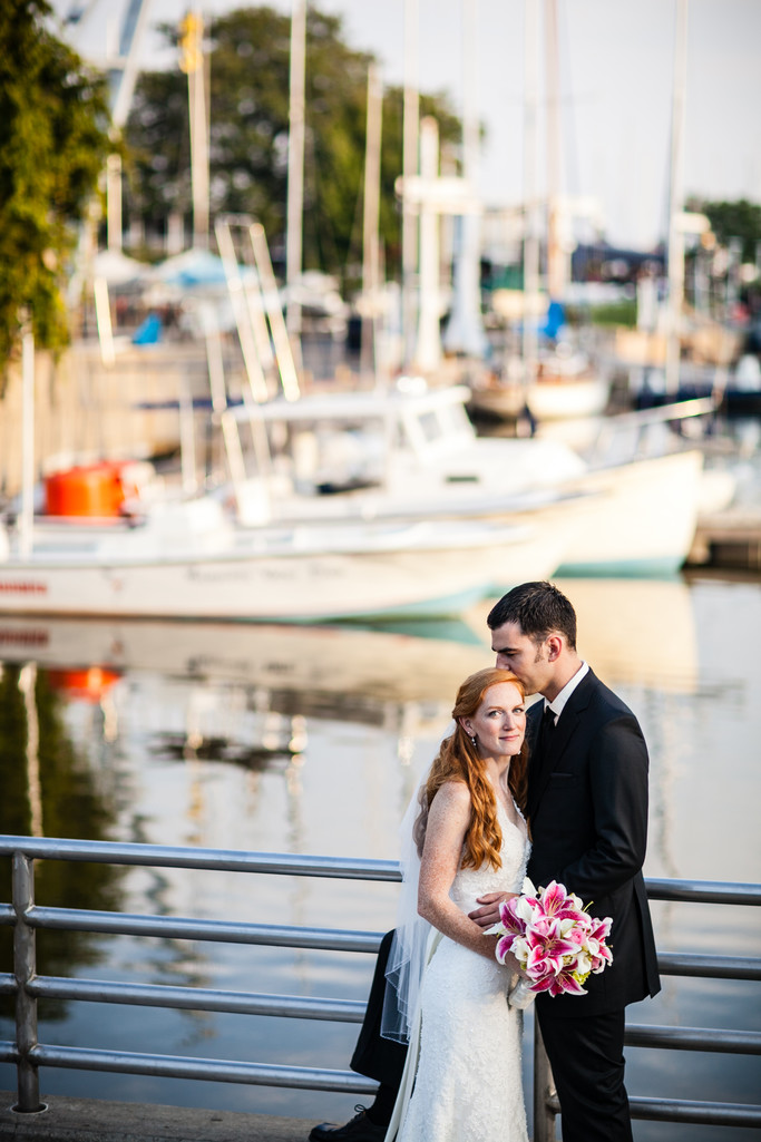 Wedding Photographer Milwaukee Yacht Club Portrait