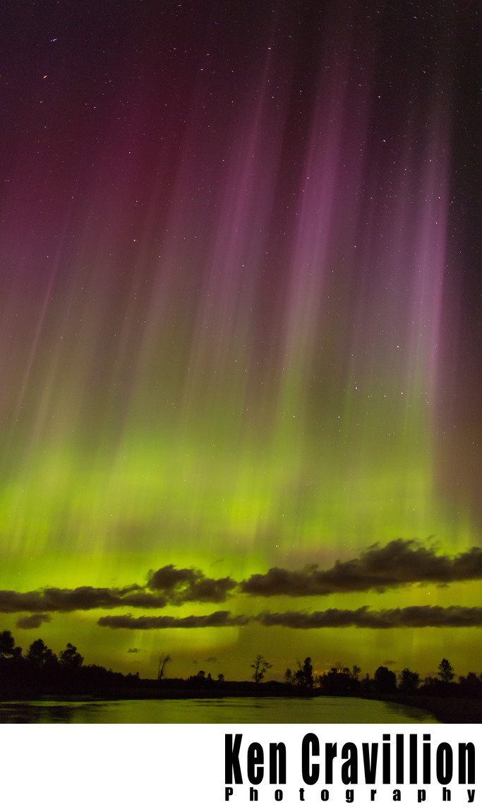 Northern Lights Aurora Central Wisconsin Photo