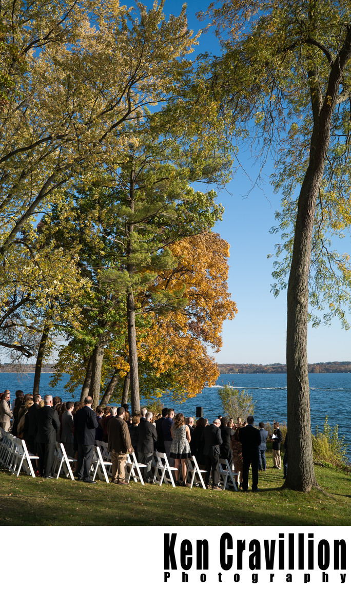 Heidel House Green Lake Fall Wedding Photos 064