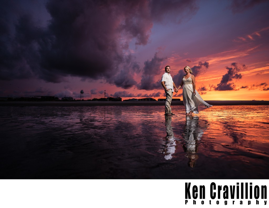 Savannah, Georgia Sunset Wedding Photo