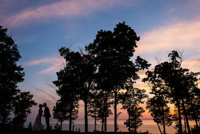 Horseshoe Bay Door County Sunset Wedding Photography