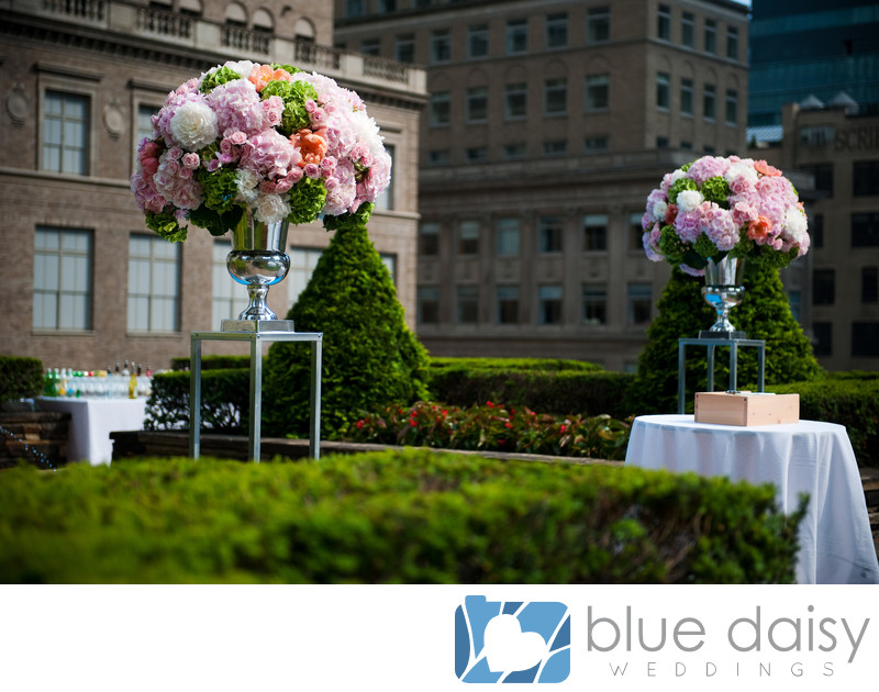 Rockefeller Center rooftop garden wedding flowers