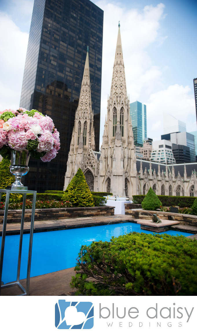 Rockefeller Center rooftop garden wedding ceremony