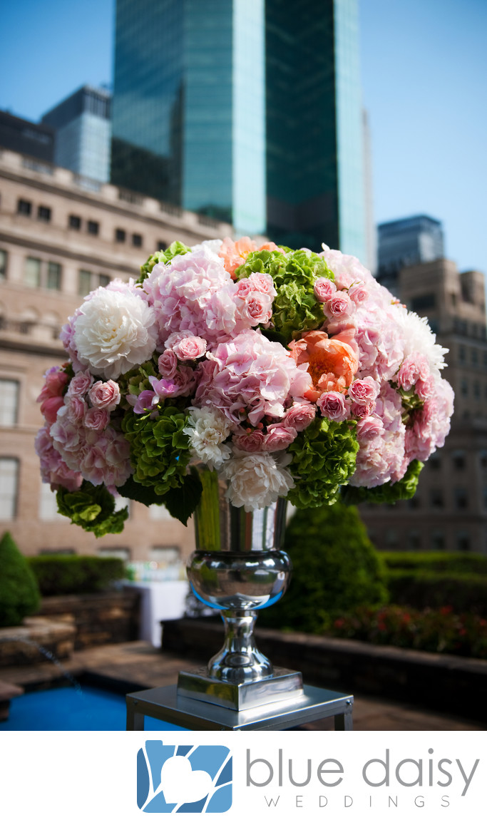 Rockefeller Center NYC rooftop garden wedding flowers