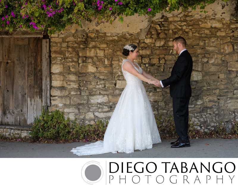 First Look Bride and Groom Image in Aptos