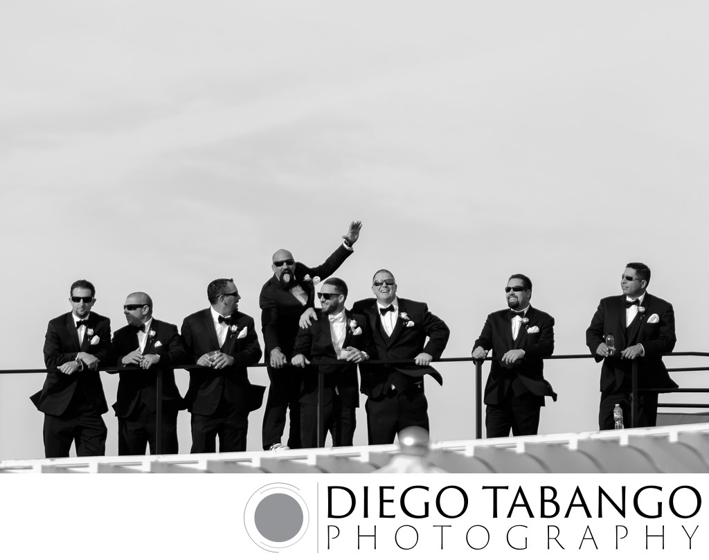 Fun Groomsmen Photography in Santa Cruz