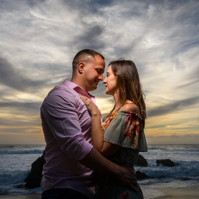 Garrapata State Beach Engagement Photo