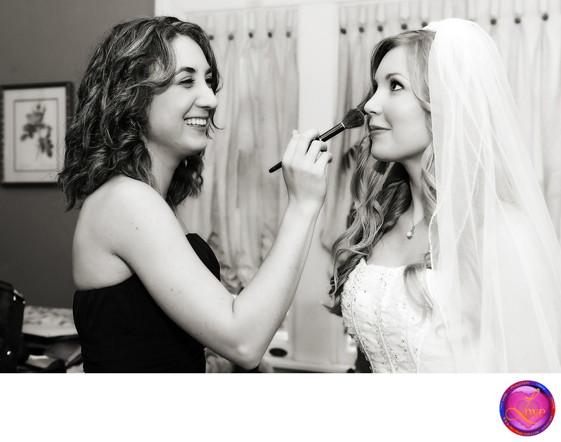 Bride Get Ready Final Touch up Wedding in Atlanta