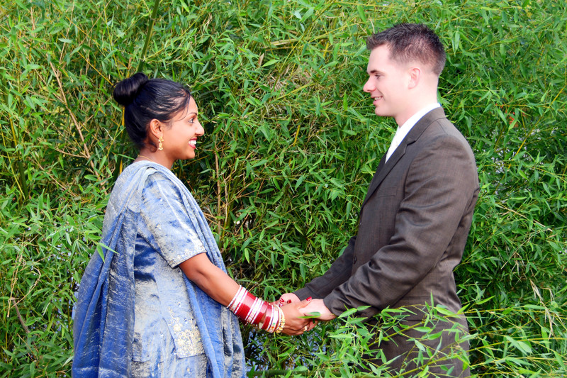Wedding Engagement Indian American Fusion Photographers
