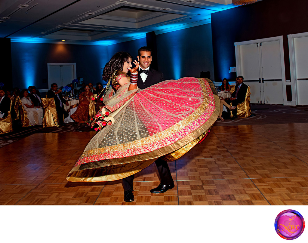 Amazing Dance Indian Wedding Reception Photographer GA
