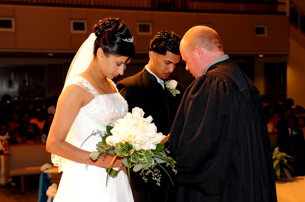 Christian Wedding Photographer Atlanta Vows in Church
