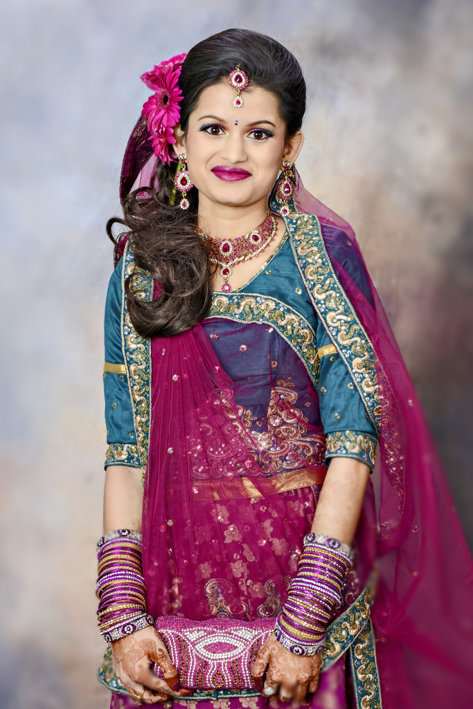 Bridal Portrait Bengali Wedding Photographer Atlanta