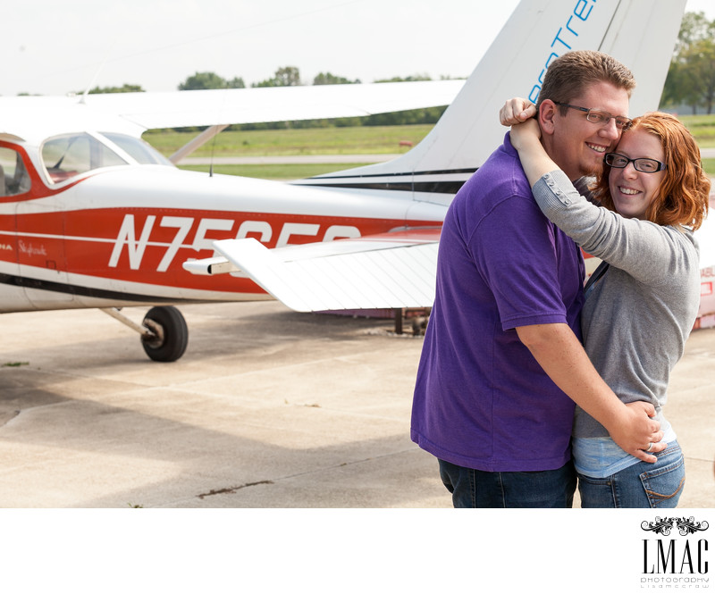 A Fabulous Engagement Session at the Wadsworth Airport