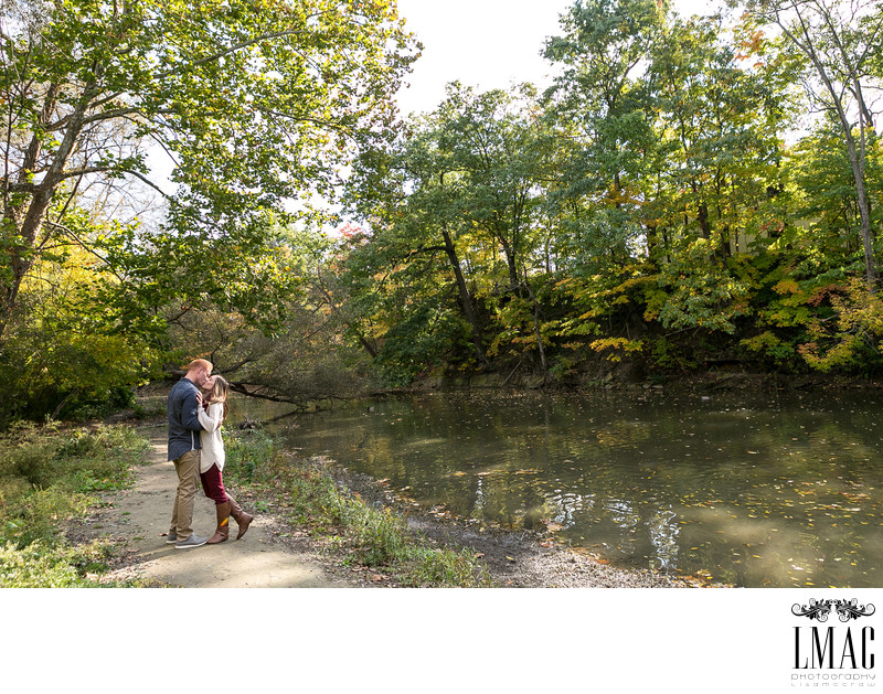 Charming Engagement Photos in Chagrin Falls, Ohio
