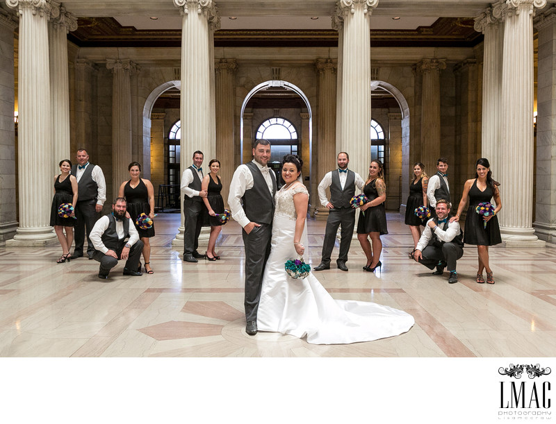 Fabulous Bridal Party Photos in Cleveland Ohio