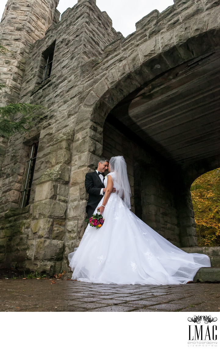 A Beautiful Bride and Groom at Squire's Castle