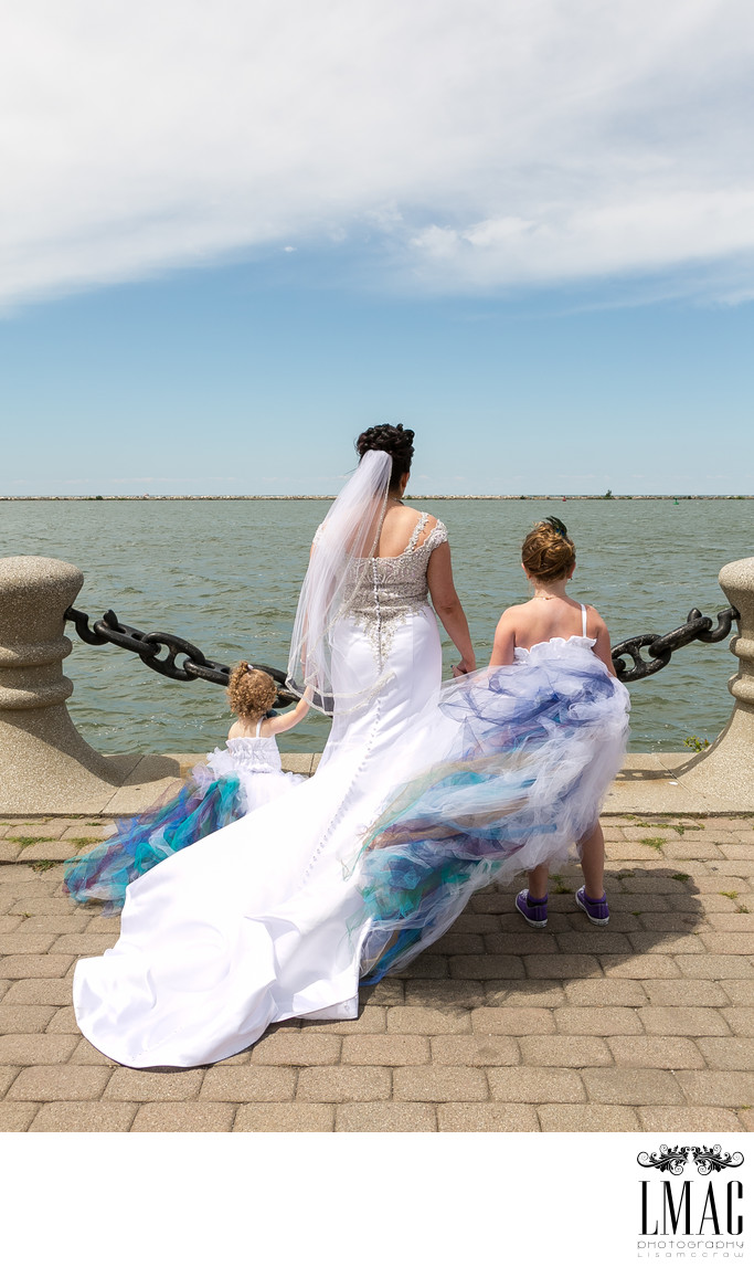 Gorgeous Wedding Photos on the Cleveland's E9th Pier