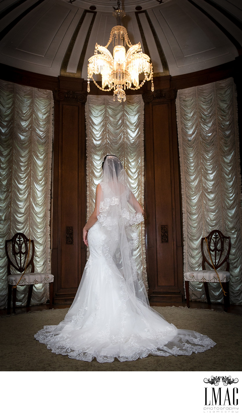 Stunning Bridal Portrait at the Historical Center