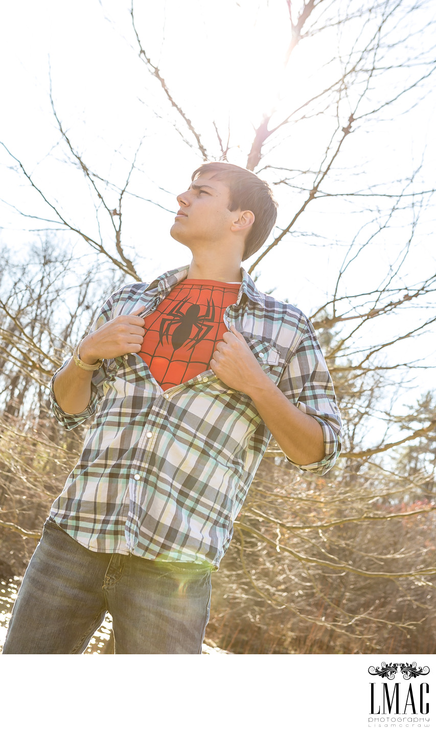 A Superhero Senior Portrait Session