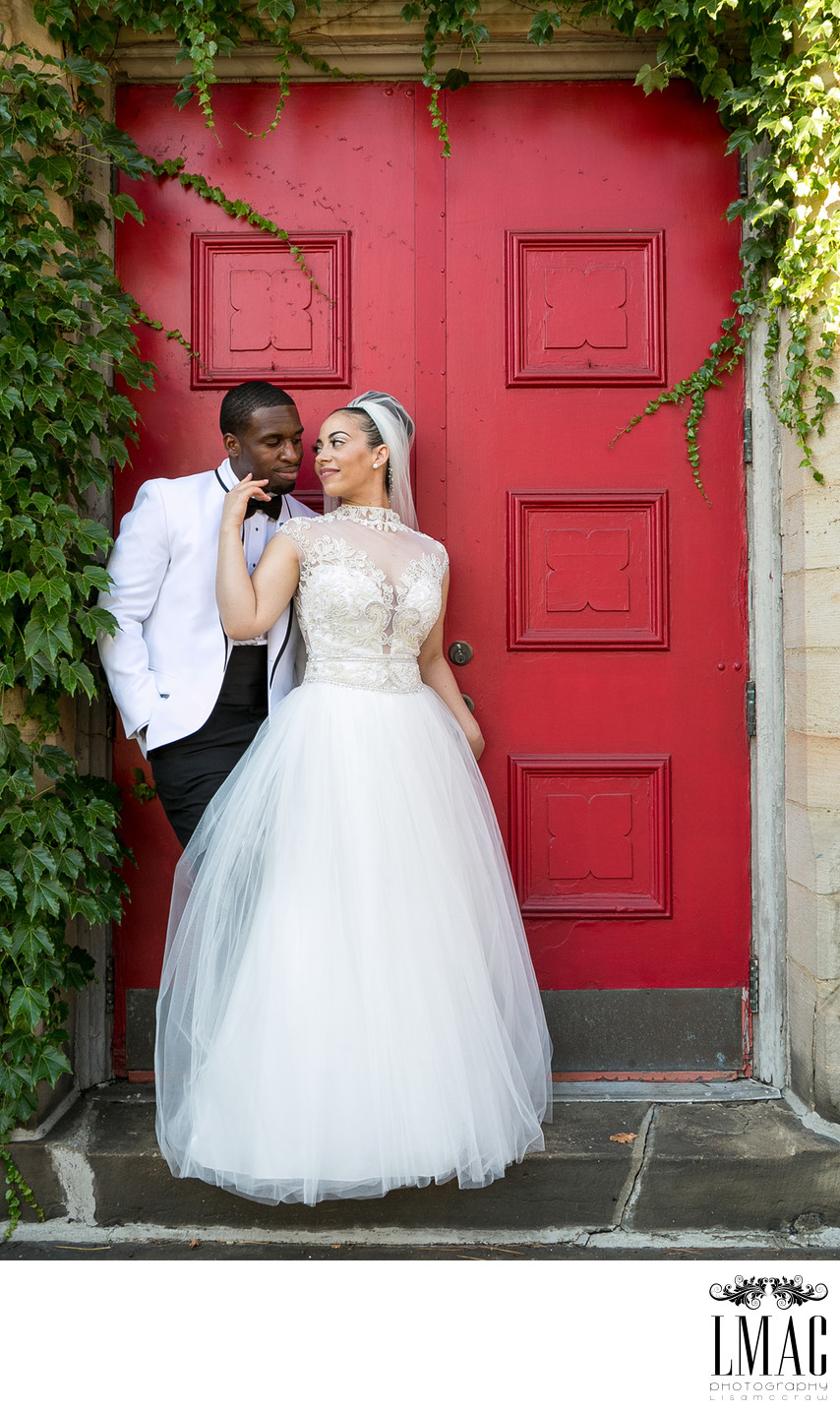 Stunning Bride and Groom Portrait in Canton Ohio