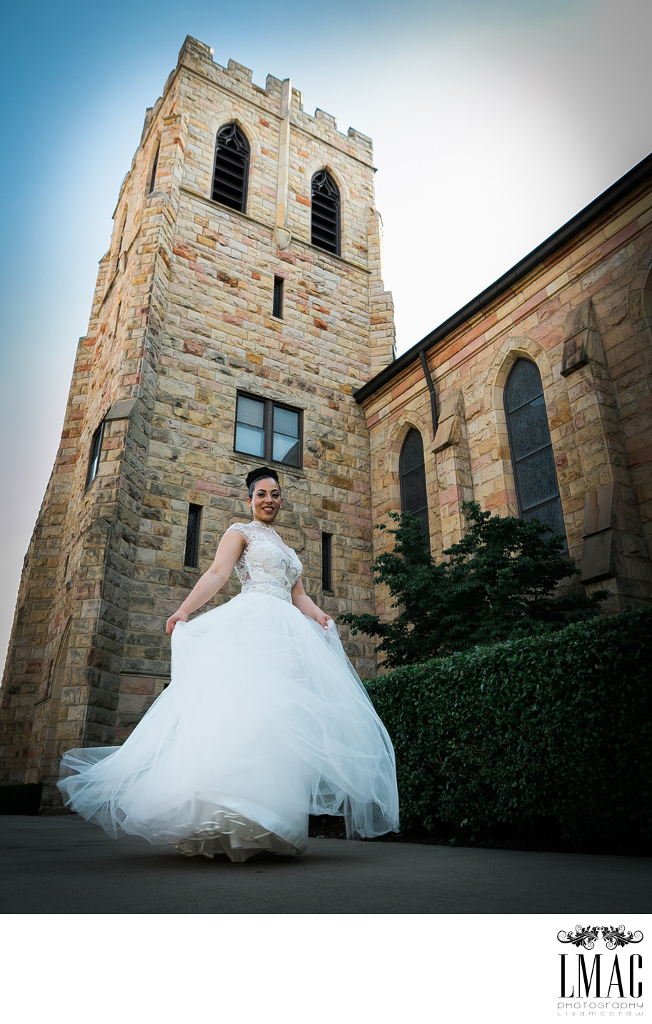 Stunning Bridal Portrait with this Amazing Wedding Gown