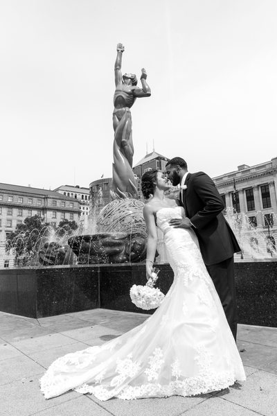 Amazing Wedding Photo in Downtown Cleveland