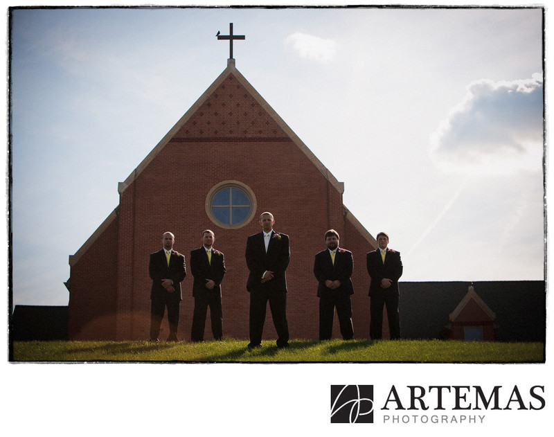Hanover PA wedding photographer groomsmen church