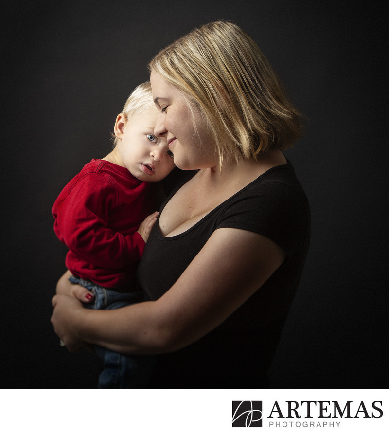 Baltimore Family Portrait Photographers Mother and Son