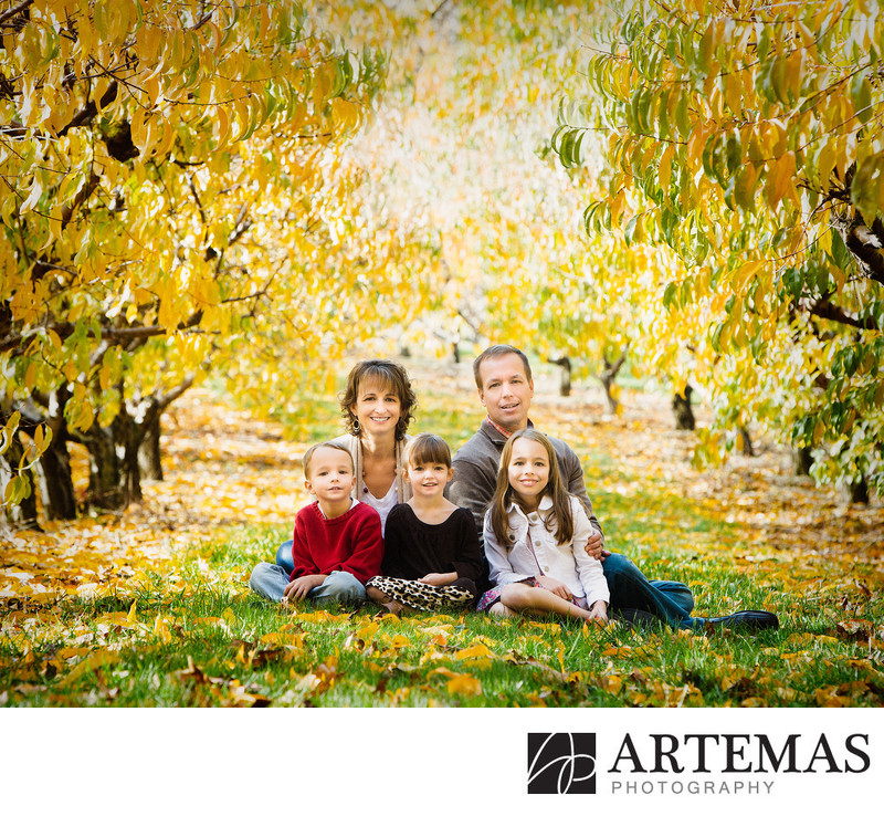 Family Portrait Photography at Brown's Orchards
