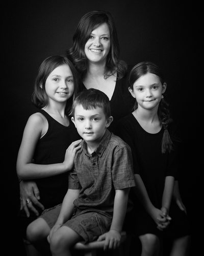 Shrewsbury PA Family Portrait Photography Black and White